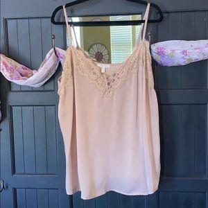 Tan Satin Maurices Camisole